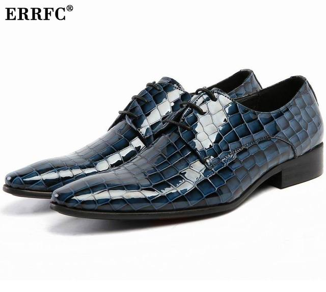 Errfc Fashion Forward Men Formal Shoes Pointed Toe Python Snake