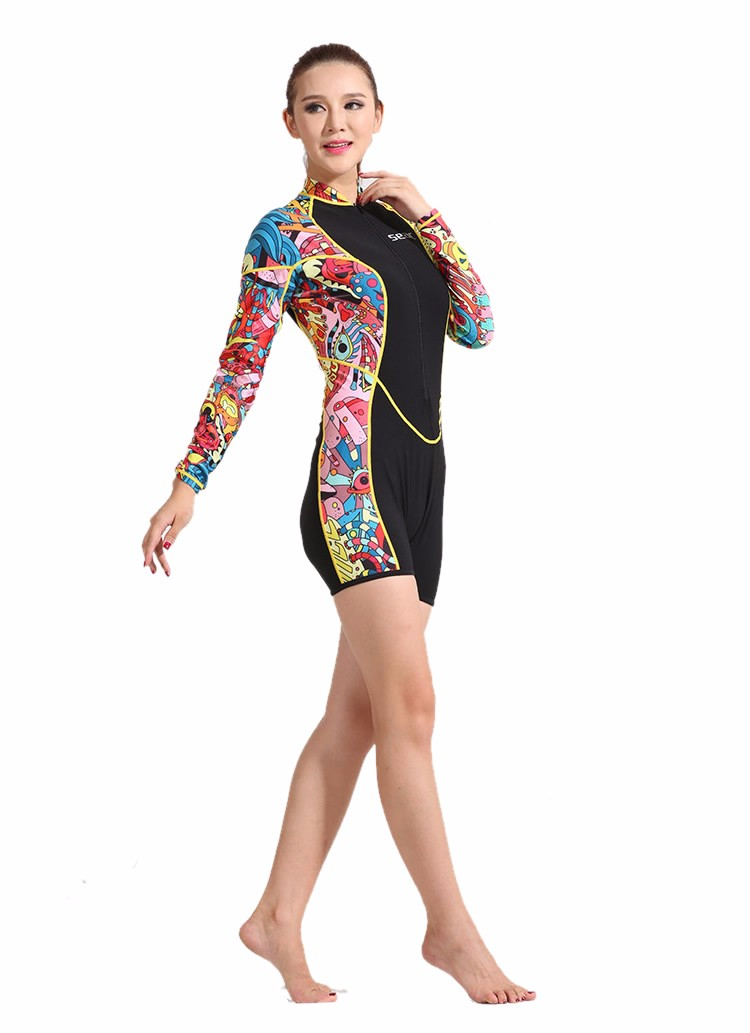 0.5mmWetsuit Women printing Swimsuit Equipment Diving Scuba Swimming Surfing Spearfishing Suits Triathlon Keep warm Wetsuits
