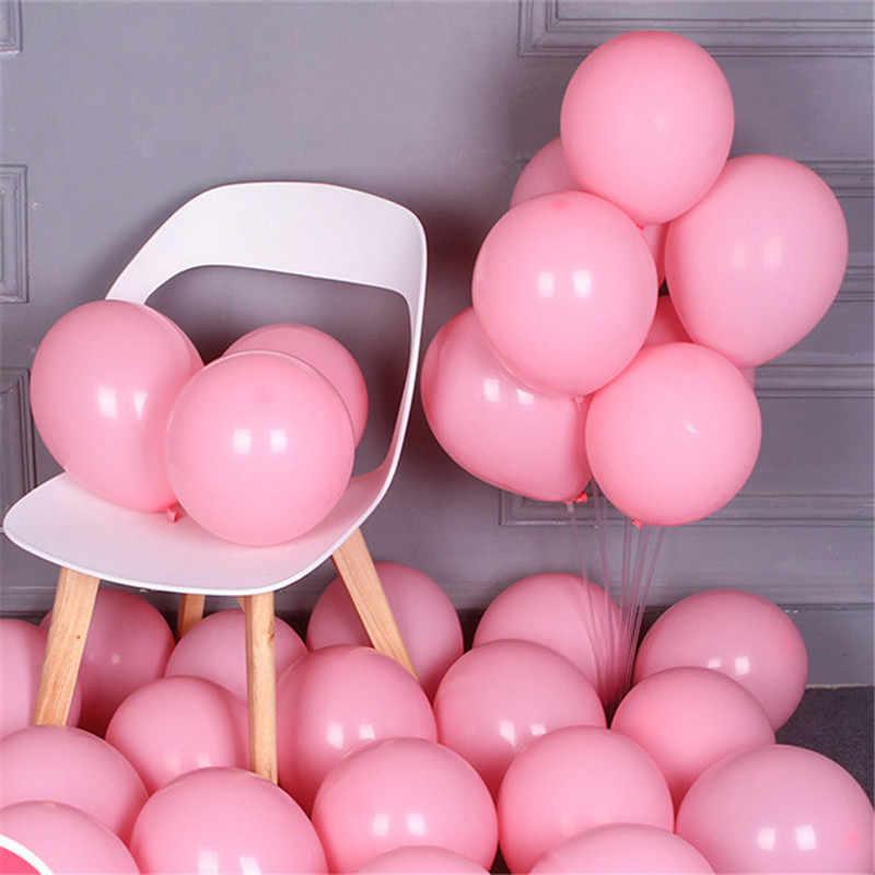 10pcs 12 นิ้วลูกโป่งสีชมพูเด็กทารกสาวบอลลูนงานแต่งงานบอลลูนวันเกิดตกแต่งเด็ก Globos ลูกโป่งสีชมพู