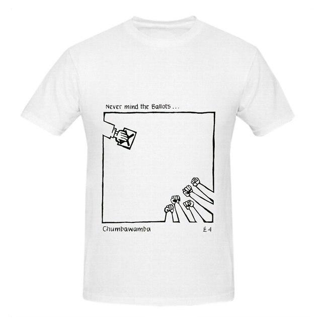 Chumbawamba Ничего Голосов Саундтрек Мужчины Шеи Экипажа Прохладный Футболка 100% хлопок хип-хоп стиль повседневная топ тис