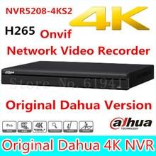 Free shipping New DAHUA 8CH 1U 4K&H.265 1080P NVR support 2HDD Onvif NVR5208-4KS2 Network Video Recorder
