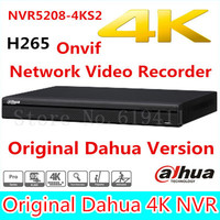 Free Shipping New DAHUA 8CH 1U 4K H 265 1080P NVR Support 2HDD Onvif NVR5208 4KS2