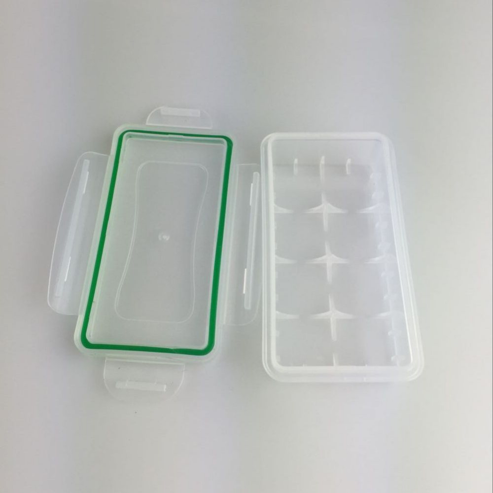 2 Pcs/Set Waterproof Battery Storage Case ABS Plastic Material Silicone Waterproof Seal Circle Tool Box