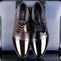 2016 Новый Дышащая Мужская Кожаная Обувь Мода Офис Острым Носом Зашнуровать Бизнес Обувь Черные Туфли Мужчины Обувь Оксфорды