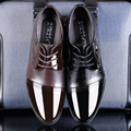 2016 Novos Homens Respirável Sapatos de Couro Moda Apontou Toe Rendas ATÉ Sapatos de Negócios Do Escritório Preto Sapatas De Vestido Dos Homens Sapatos Oxfords