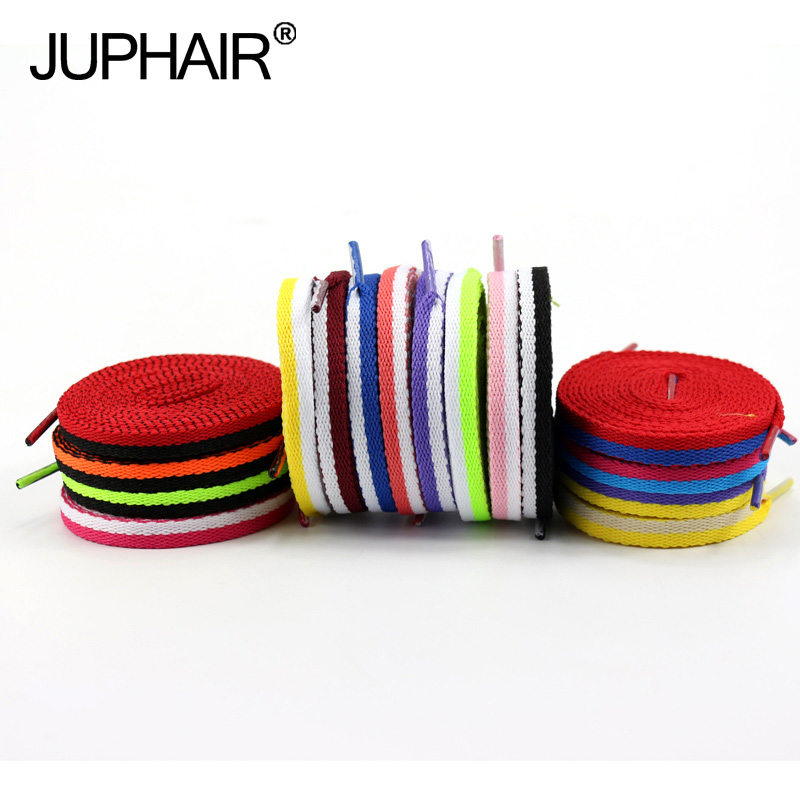 JUP50 Pairs ShoeLaces Shoes Shoestring 120-140 Cm Athletic Women Shengdai Footwear Flat Shoelaces Colorful Bootlaces Multi Color 5 pairs 1cm width british scotland plover grid style shoelaces canvas shoes sneakers flat shoes lace 70 80 90 100 110 120 130cm