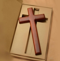 32cm Redwood Cross mahogany color Christian gift home accessories wall hanging mannequin 1pc A401