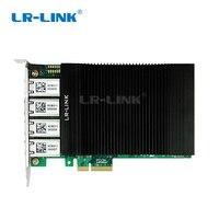 LR LINK 2004PT POE PCI E POE + gigabit ethernet Камара карты захвата 802.3at видео захвата кадров Quad Порты и разъёмы RJ45 Intel I350 T4 Nic