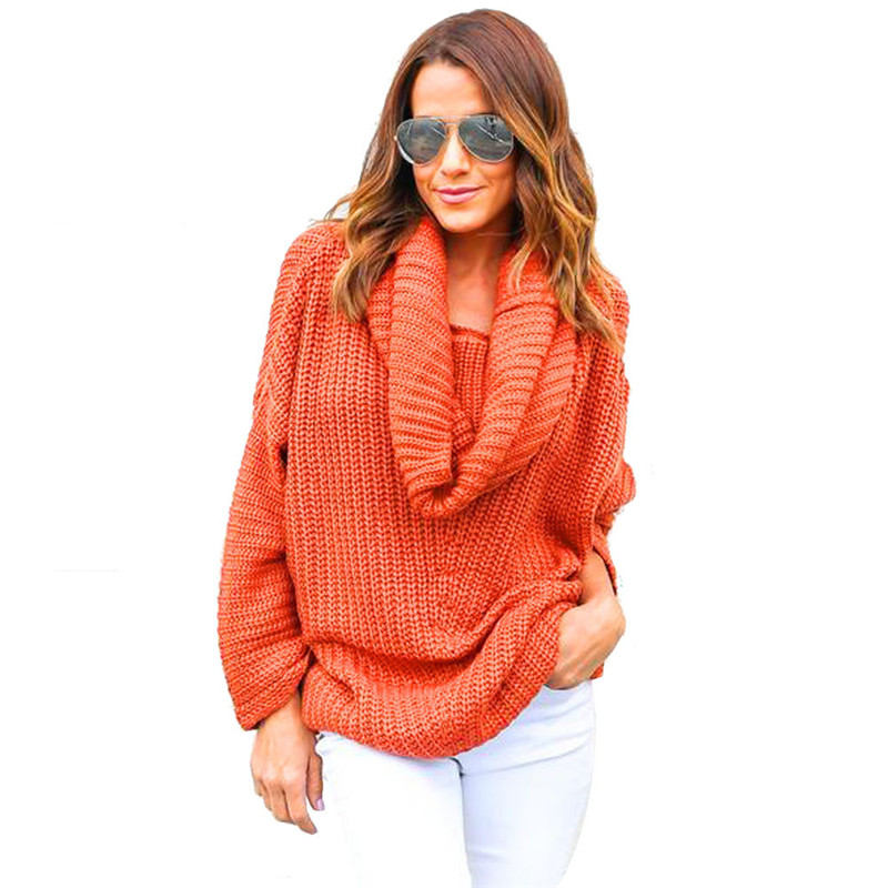 Autumn Winter Women Oversized Batwing Sleeve Knitted Sweater Tops Loose Outwear Fashion Solid Warm Feminino Sueter Oct31