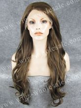 CWN12 Stylish Heat Resistant Fashionable Synthetic Lace Front Wig High quality 26Inch Long Wavy Wig