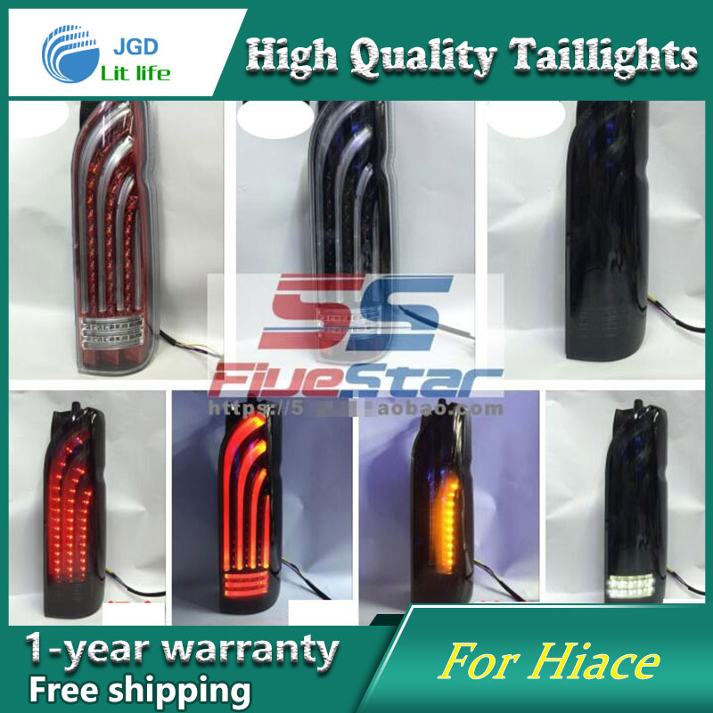 Car Styling Tail Lamp case for Toyota HIACE 200 2005 2016 2017 Tail Lights LED Tail Light Rear Lamp LED taillights tail lights
