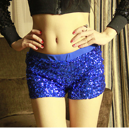 befree Sexy Gold silver Sequins High waist shorts women Black Punk fashion streetwear womens booty shorts Summer clothes New Hot in Shorts from Women 39 s Clothing