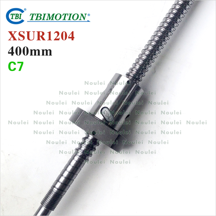 Taiwan TBI SFU1204 C7 400mm ballscrew dia 12mm lead 4mm with XSU1204 ball nut + seals for 3d printer parts CNC kit горелка tbi sb 360 blackesg 3 м