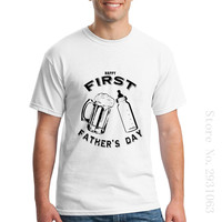 Men S T Shirt Dad S First Father S Day Beer And Bottle Mens T Shirt