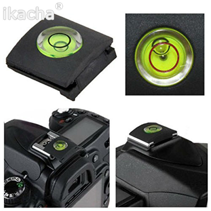 100pcs/lot High Quality DSLR 1PCS/LOT Camera Bubble Spirit Level + Hot Shoe Protector Cover for Nikon Canon Casio Fuji Samsung