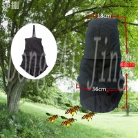 3 Layers Beekeeping Tools Bee Cage To Catch With Bees Wild Recruit Black 40cm DAJ9233