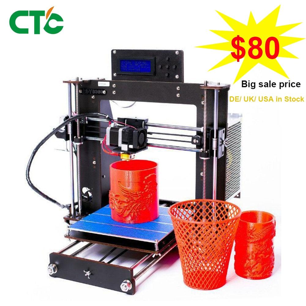 Pas cher Prusa i3 3D Imprimante cadre en bois Haute Précision Impressora USA Stock