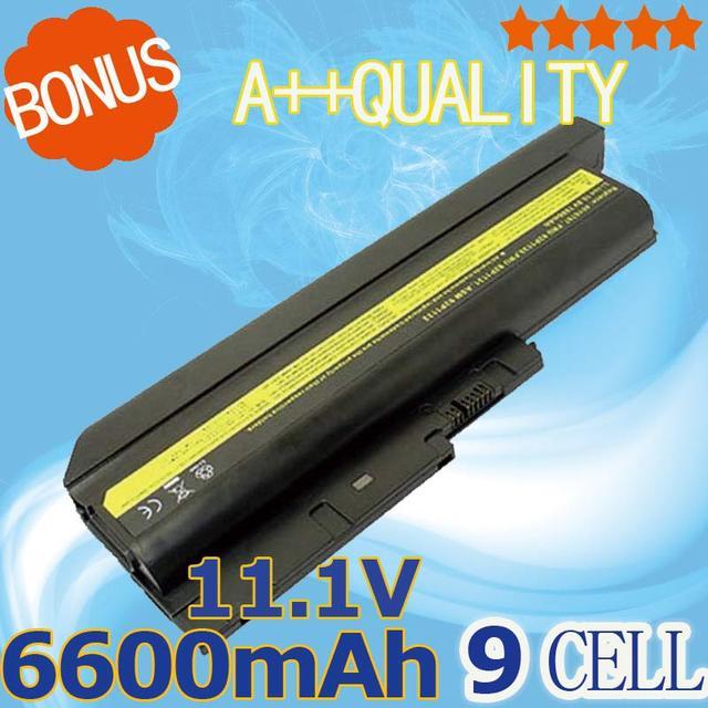6600mAh 9 cells  Battery For IBM Lenovo  ThinkPad  R60 R60e R61 R61i  R61e T60 T60P  T61 T61P  Z60M  Z61e  Z61p   R500