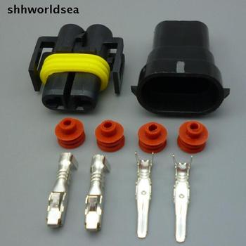 Shhworldsea 10sets H11 Waterproof 2 Pin car Electrical Wire Connector Plug H8 Bulb socket auto lamp holder Car Motorcycle Marine фото