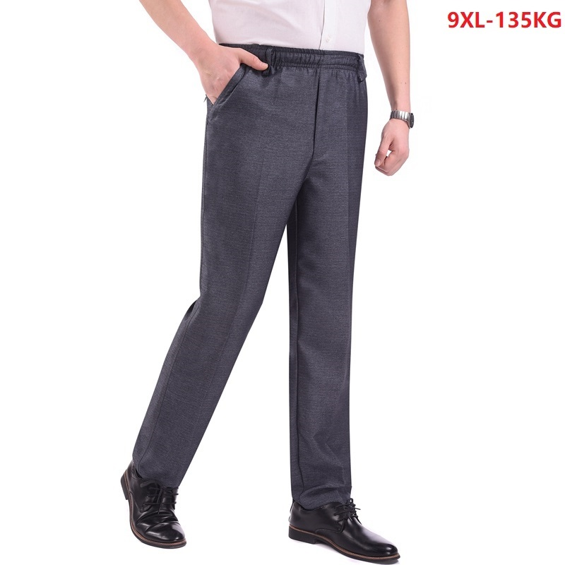 Big Size 6XL 7XL 8XL 9XL Men Suit Pants Formal Cheap Office Pants Summer Thin Comfortable Mans Gray Business Suit Pants Loose 54