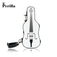 Perilla Fashion Cute Cartoon Bags Women Violin Shape Shoulder Bag New Small Messenger Bags Personality Crossbody Bag