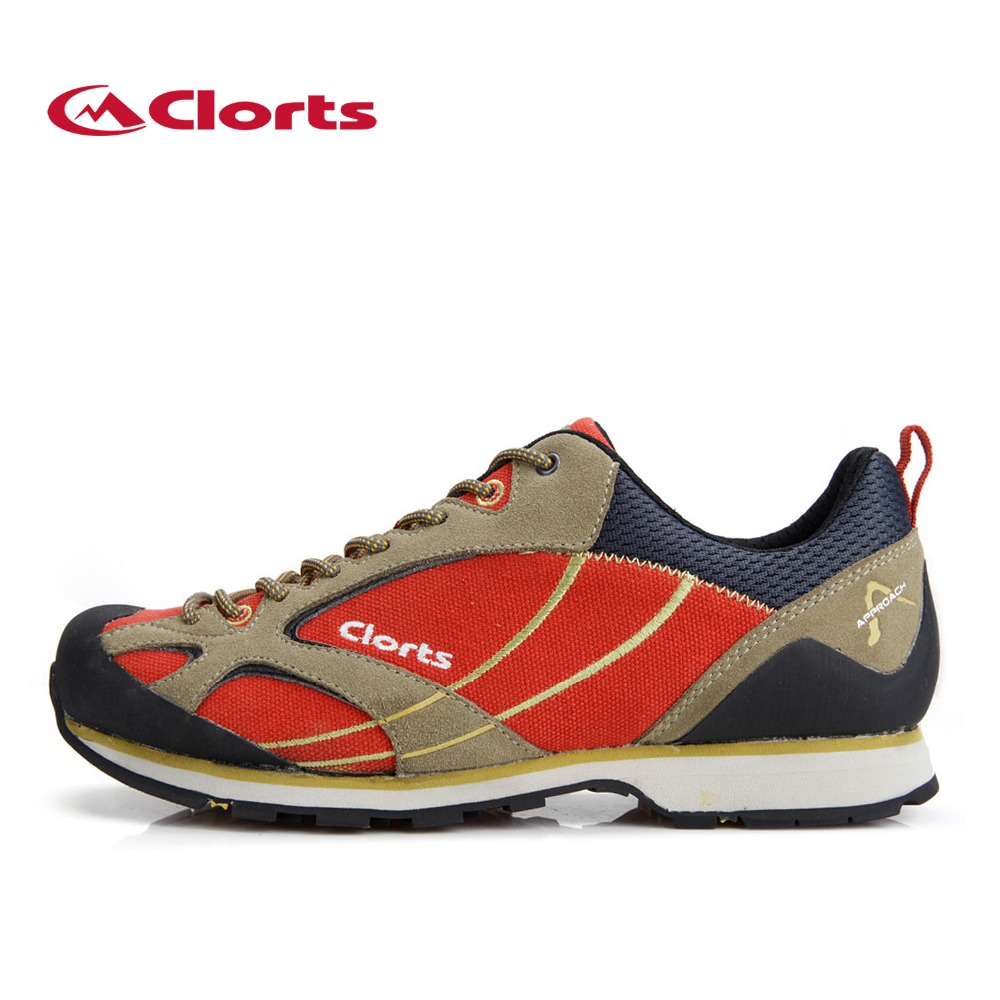 2016 Clorts Men Climbing Shoes 3E003A B Outdoor Cow Suede Waterproof Hiking Shoes EVA Sport Sneakers