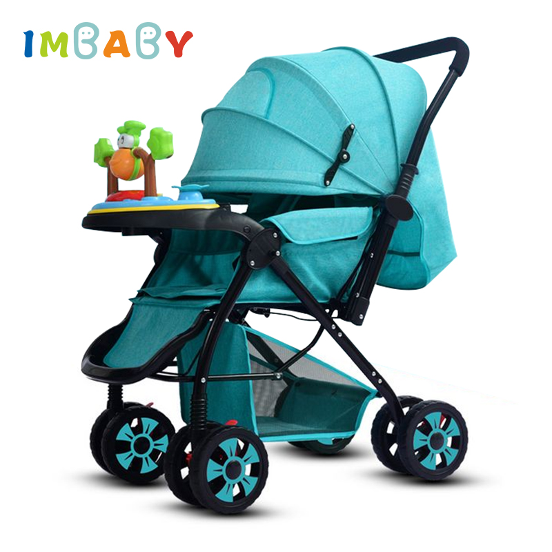 IMBABY High Landscape Baby Stroller Carriages With Music Plate Foot Cover For Winter Infant Stroller Newborns Prams Poussette imbaby luxury baby stroller carriages high landscape baby prams with music player for newborns baby carriages for children