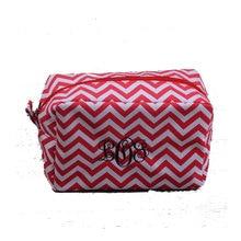 11 Colors Microfiber Chevron Cosmetic Bags and Cases Zipper Closure Bridesmaid A