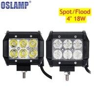 2x 18W Cree Flood Spot Beam LED Work Light Bar Offroad 12V 24V 4x4 4WD LED