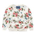 Cotton Good Quality Girls Fashion Sweater Children Sweater Girls O-Neck Flower Printing Girls Cardigan Sweater Coat