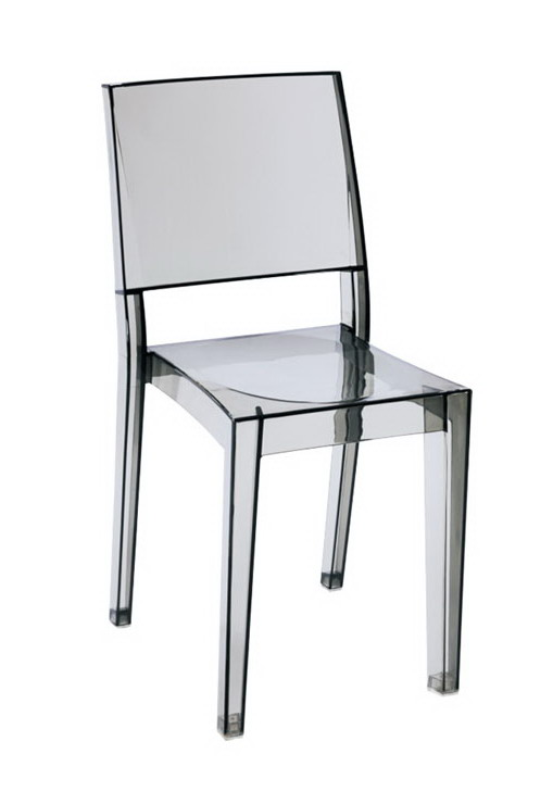 modern design clear transparent acrylic polycarbonate pc plastic dining chair famous designer fashion popular classic