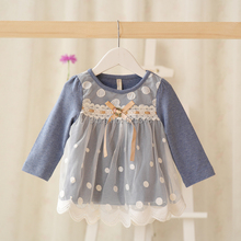 Baby Girls Dress 2017 Brand Princess Casual Baby Dress Dot C
