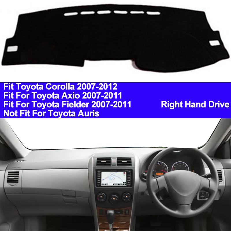 TAIJS Car Dashboard Cover Dash Mat For Toyota Corolla Axio Fielder 2007 2008 2009 2010 2011 Auto Non-slip Sun Shade Pad Carpet