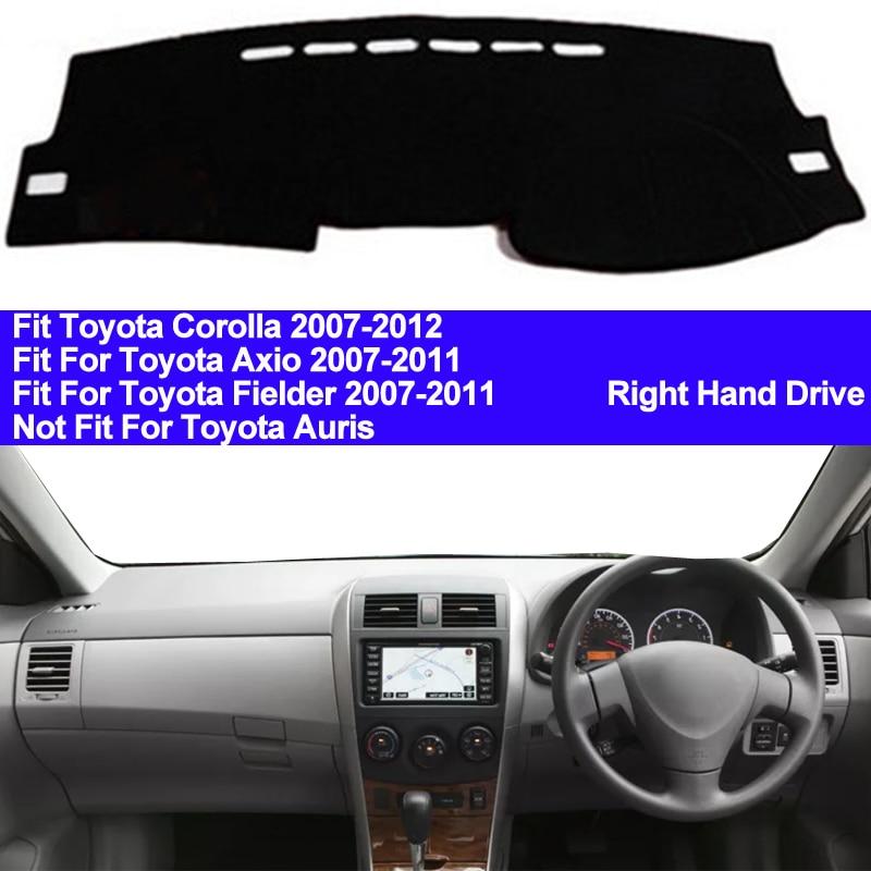TAIJS Car Dashboard Cover Dash Mat For Toyota Corolla Axio Fielder 2007 2008 2009 2010 2011 Auto Non-slip Sun Shade Pad Carpet