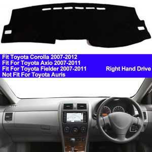 Image 1 - TAIJS Car Dashboard Cover Dash Mat For Toyota Corolla Axio Fielder 2007 2008 2009 2010 2011 Auto Non slip Sun Shade Pad Carpet