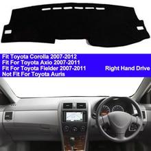 TAIJS tapis dombrage antidérapant pour tableau de bord de voiture, tapis dombrage pour Toyota Corolla Axio Fielder 2007 2008 2009 2010 2011