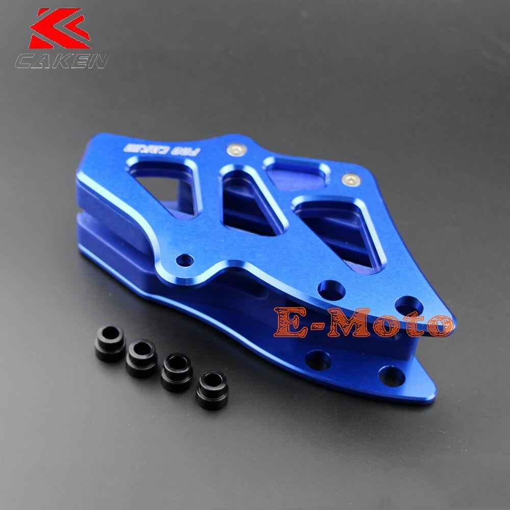 Nouveau CNC Billet arrière en aluminium bleu chaîne Guide garde pour YZ125 YZ250 YZ250F 2008-2016 e-moto