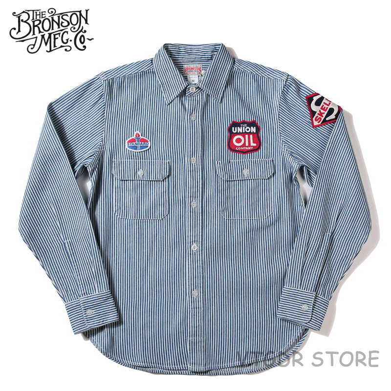 2018 Bronson Winchman Shirt Winter Men's Hickory Striped Casual WorkShirt Jacket
