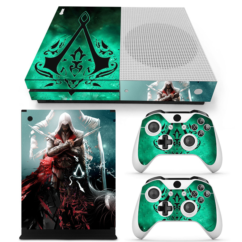 assassin 39 s creed vinyl skin sticker cover for xbox one console with 2 controllers protective. Black Bedroom Furniture Sets. Home Design Ideas