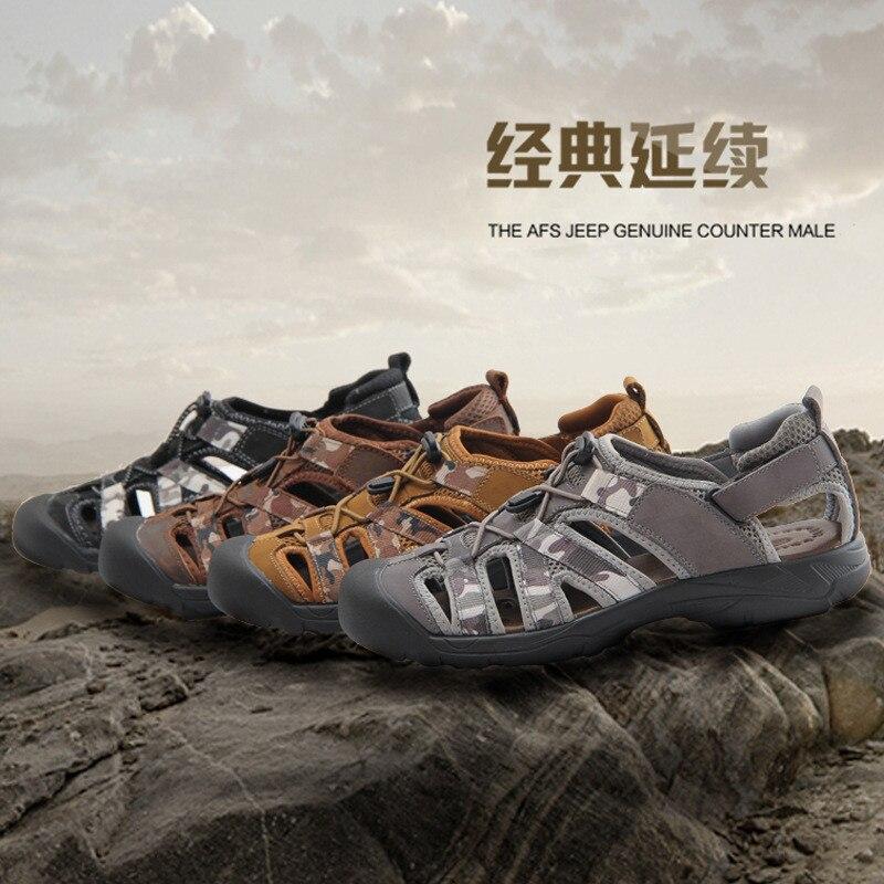 DreamShining Transpirable Sandalias de Los Hombres de Moda Zapatillas de Cuero Genuinos Ocasionales Planos de Los Hombres Zapatos de Cuero Nobuck