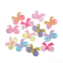 50Pcs Mixed Clear Bling Resin Bow Decoration Crafts Flatback Cabochon Embellishments For Scrapbooking Accessories