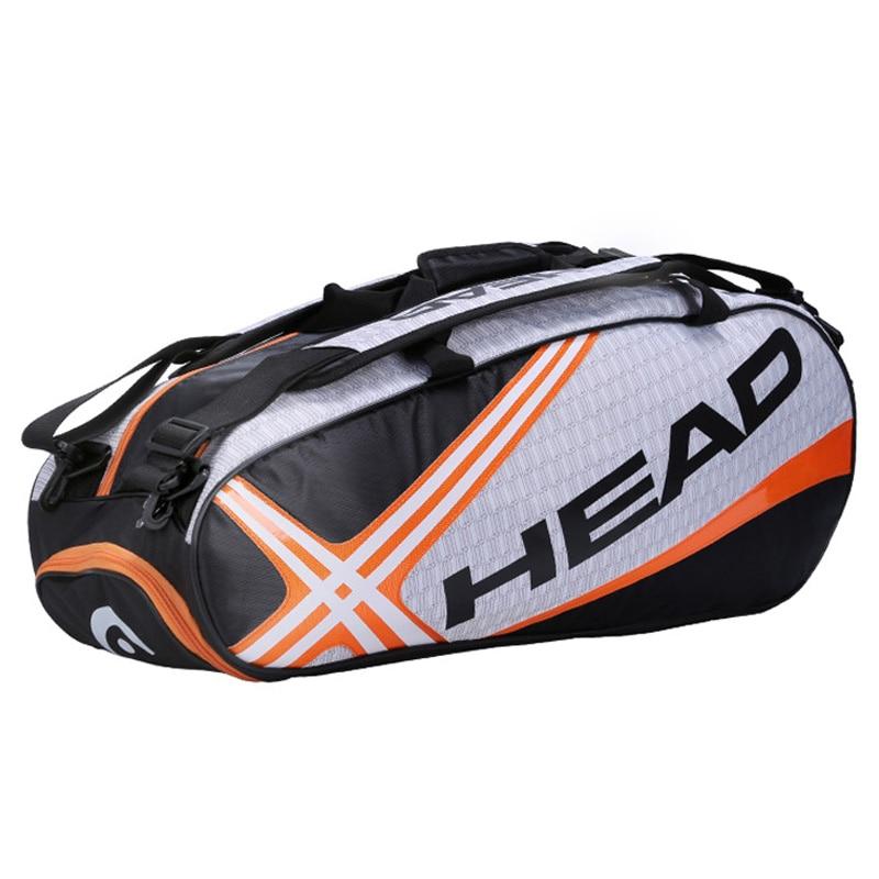 Sac de raquette de tête Badminton Tennis Double épaule avec sac à chaussures peut contenir 6-9 raquettes sport formation sac à dos hommes femmes Squash - 2
