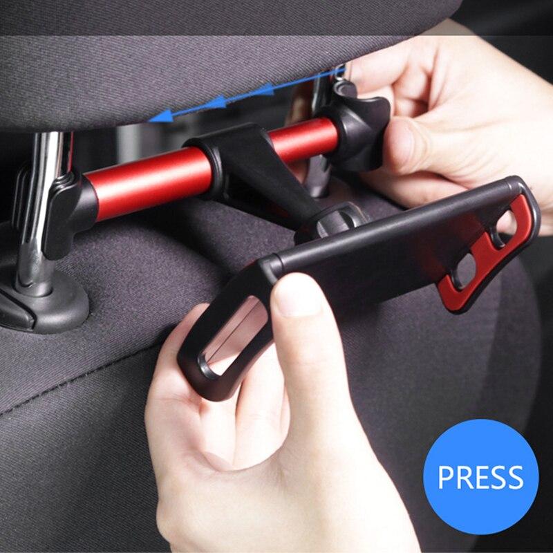 Universal 4-11 inch Car Phone Holder Back Seat Tablet Bracket For Apple Iphone 6 7 8 Ipad Mi Pad Tablet PC 360 Degree Adjustable