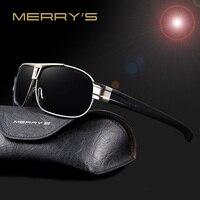 MERRY S Men Classic Brand Sunglasses Luxury Aluminum Polarized Sunglasses EMI Defending Coating Lens Male Driving