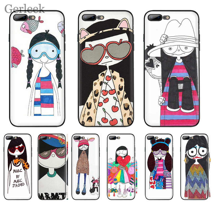 Detail Feedback Questions about Phone Case Marc By Marc Jacobs Miss Marc  Lovely Girl Popular For iPhone 6 6S 5 5S SE XR X XS MAX 8 7 6 Plus Cover on  ... 48add9397f69