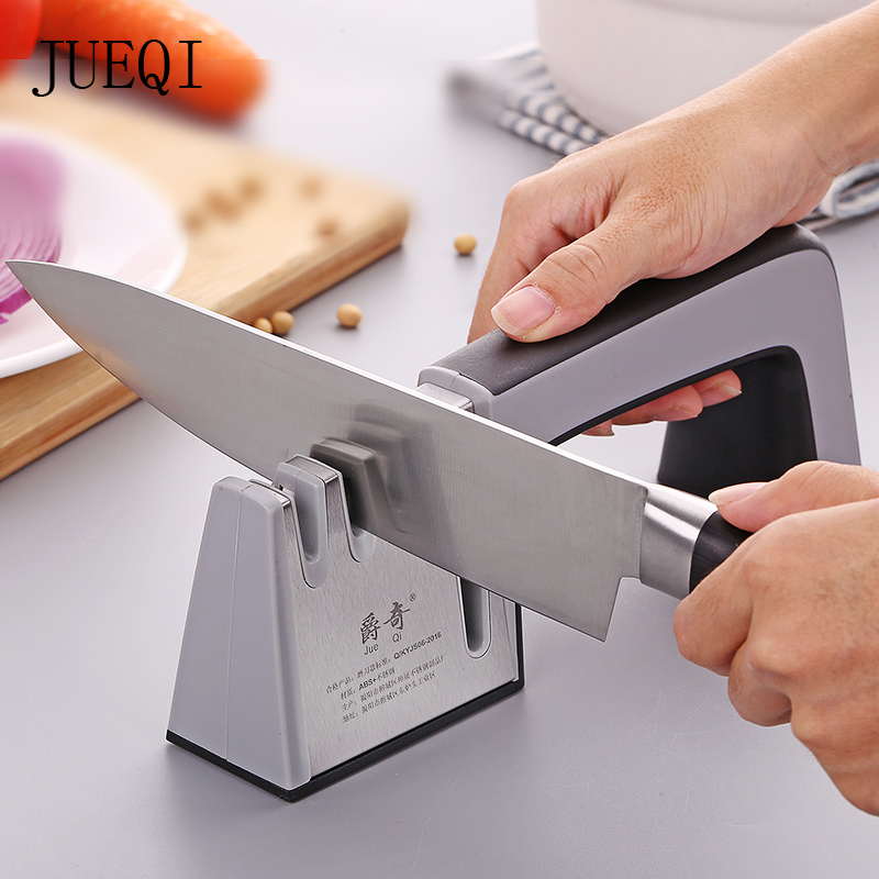 JueQi Knife Sharpener 4 in 1 Diamond Coated Fine Ceramic Rod Knife Shears and Scissors Sharpening