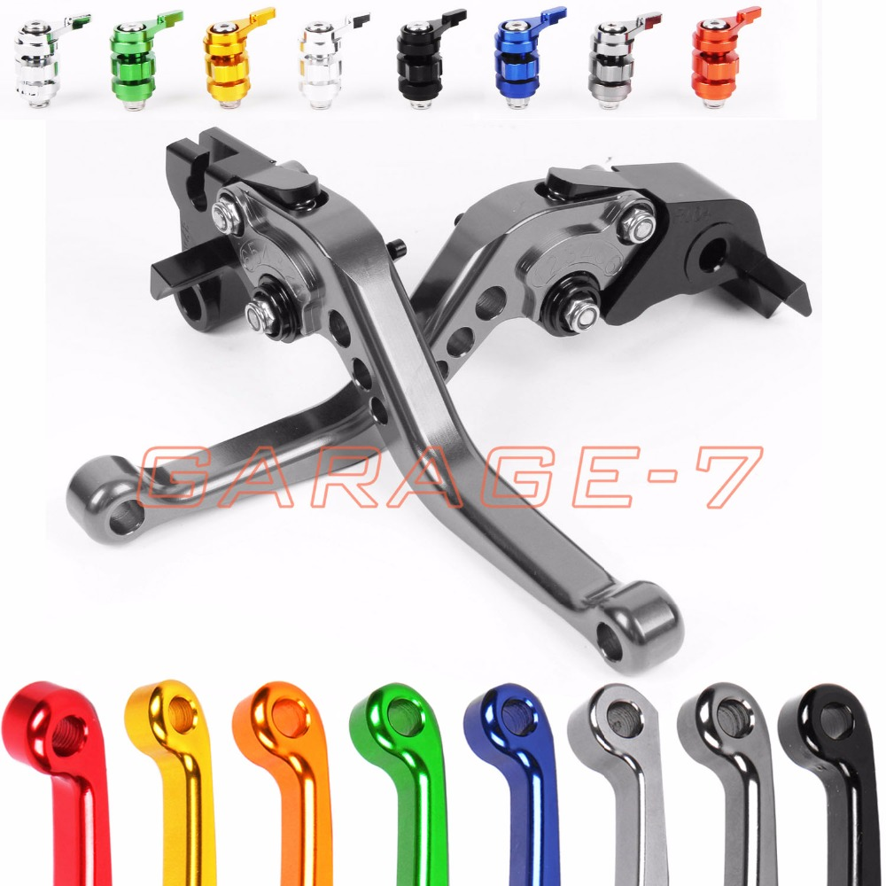 10 Colors For Suzuki GSXR1000 GSXR 600 750 GSX S1000 F ABS CNC Motorcycle Short/ Long Lever Clutch Brake Levers Shortly Longer bjmoto motorcycle thumb wheel roller adjuster cnc short brake clutch lever for suzuki gsxr600 gsxr750 gsxr1000 gsx s1000 f abs