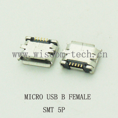 10pcs/lot 5Pin  Micro USB 5pin Long Pin SMD Female Connector For Mobile Phone Mini USB Jack PCB Welding Socket