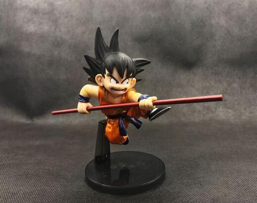 1pcs 10cm Electroplate Color Son goku Childhood Dragonball Dragon Ball Z PVC Action Figure Toy free shipping 043