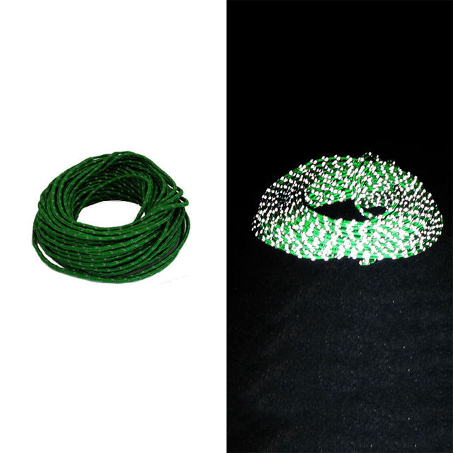 15m/50ft Reflective Guyline Canopy Tent Rope Guy Line Camp Cord Fluorescent Line For Camping Hiking Outdoor Tent Accessories